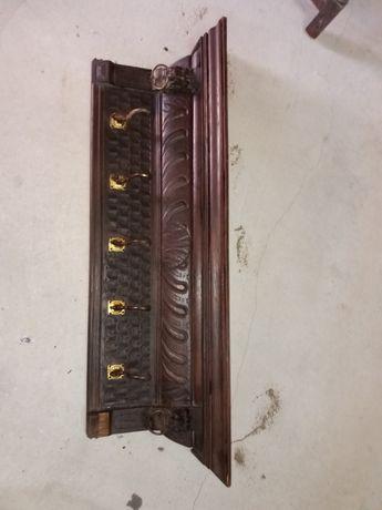 Bengaleiro antigo en madeira trabalhada ótimo para quem gosta decoraçã