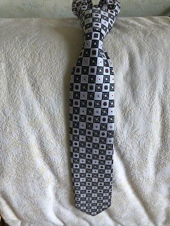 Галстук (краватка) мужской серо-белый