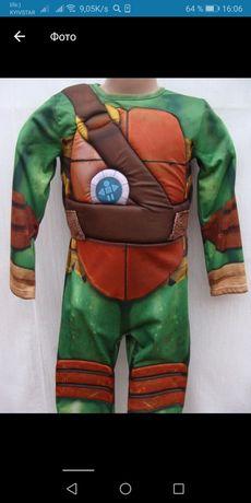 Новогодний детский костюм черепашки ниндзя на мальчика