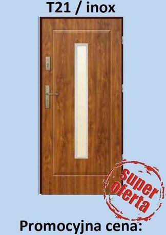 PROMOCJA - Nowe drzwi zewnętrzne wejściowe złoty dąb - PRAWE-LEWE