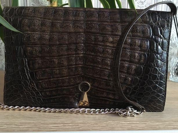 Клач, сумочка женская натуральная кожа крокодила