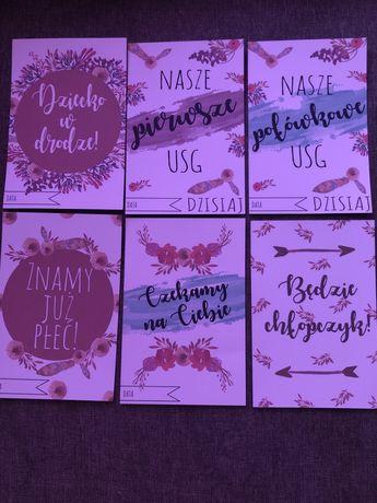 Karty do zdjęc ciążowych. 45 kart