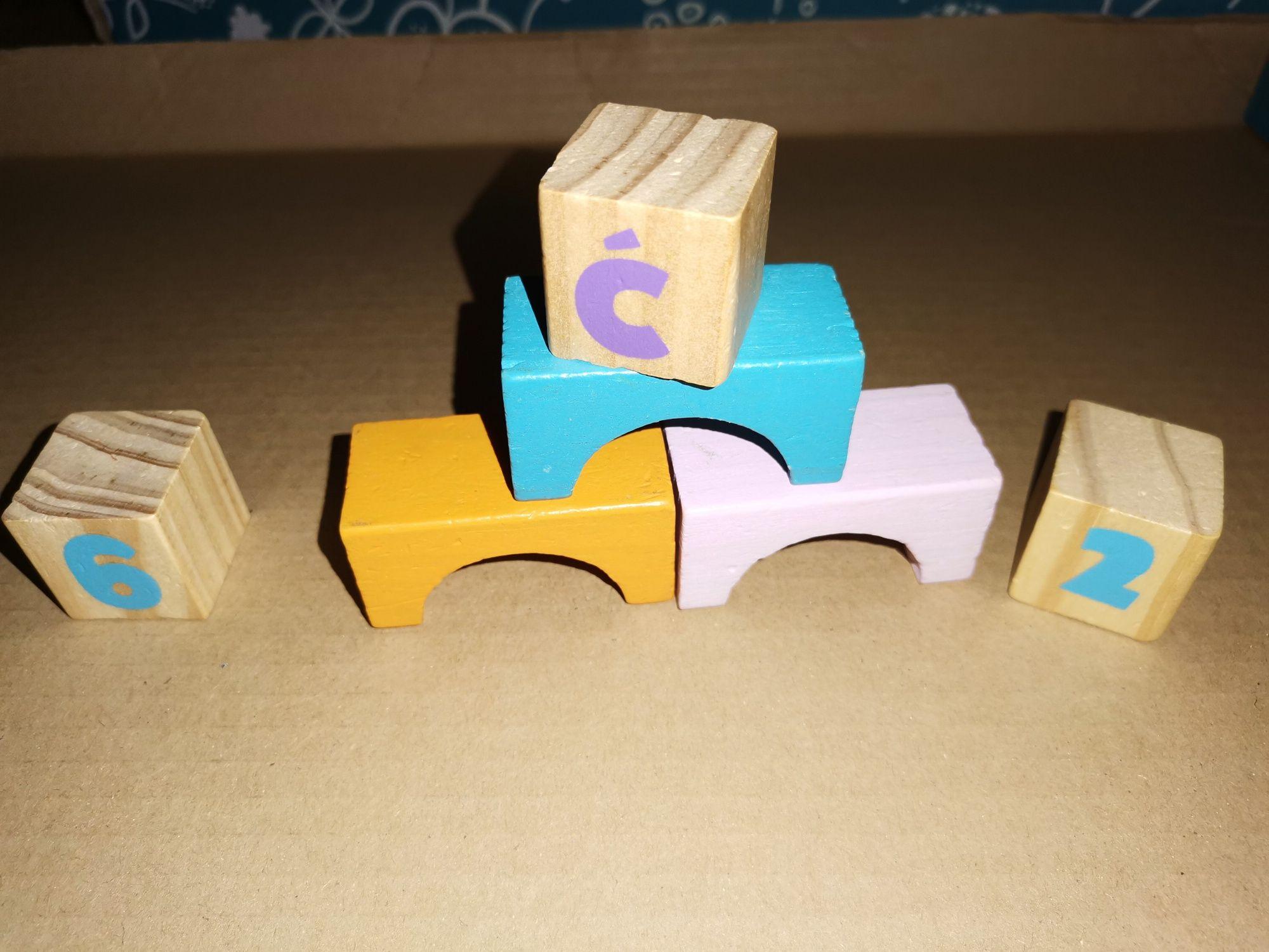 Klocki drewniane dla dzieci 99 szt