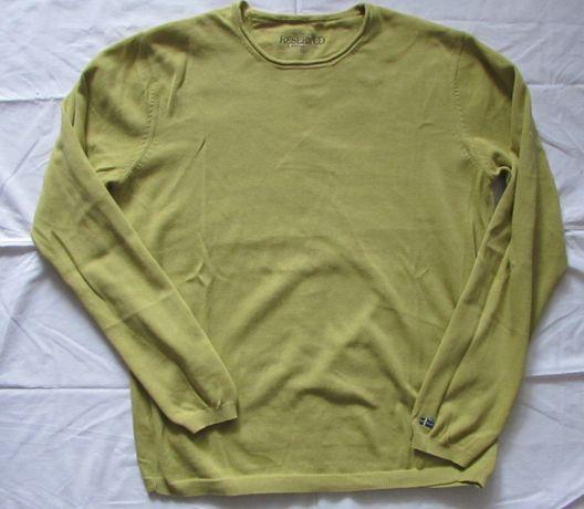 Sweter RESERVED XL oliwkowy bawełna stan idealny