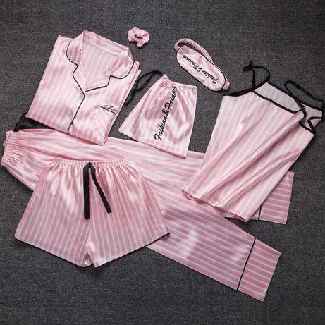 Шелковая пижама, набор из 7 предметов