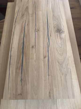 Super rustyk zalakowany stopnie dębowe 110x30x4 cm trepy od ręki lite