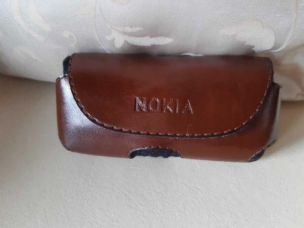 Etui futerał Pokrowiec skórzany do paska Nokia brązowy