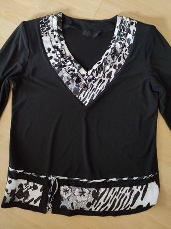 жіноча чорна блуза женская черная блузка