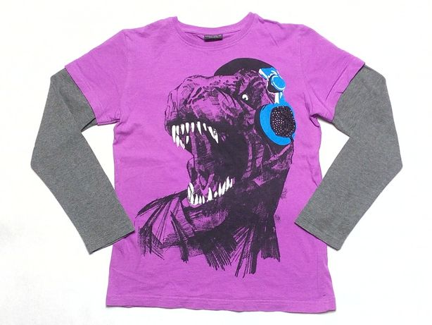 NEXT bluzka chłopięca Dinozaur *** BŁYSZCZĄCE KAMIENIE *** 140 ***