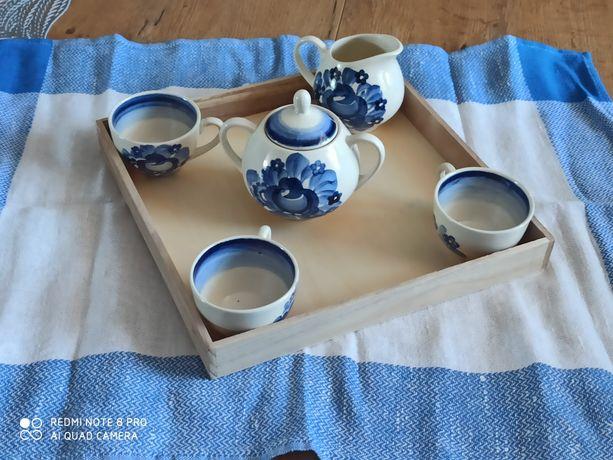 Zestaw niebieski kawowy