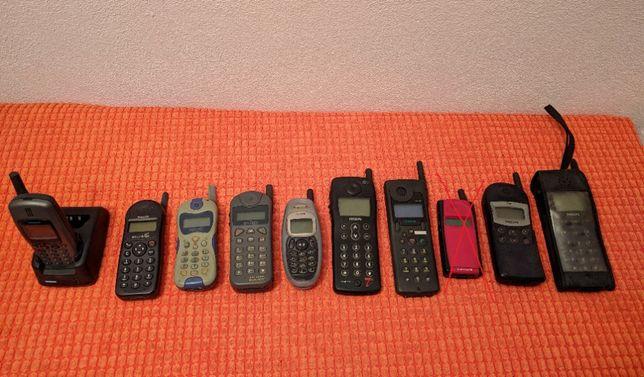 Telemóveis antigos colecção c antena: Siemens, Philips, Alcatel, Trium