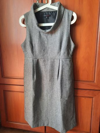 Elegancka sukienka ciążowa cieplejsza ze srebrną nitką rozmiar S/M