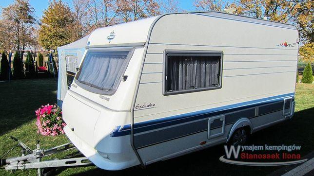 Wynajem przyczepa kempingowa Hobby 400 wypożyczalnia Camping kamping