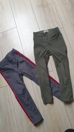 Spodnie z lampasami, khaki, szare 104