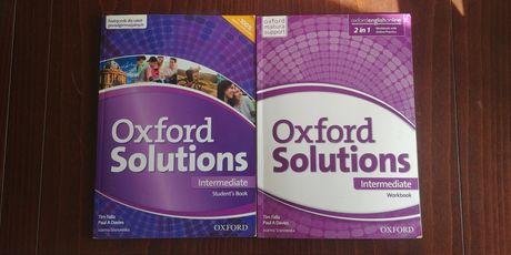 """""""Oxford solutuons intermediate"""" podręcznik i książka ćwiczeń"""