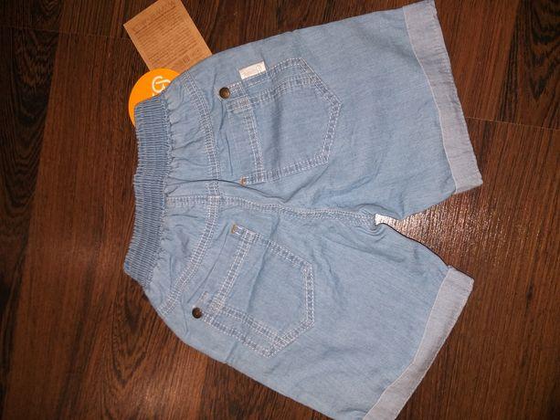Новые!!! Легкие летние джинсовые шорты, бермуды bambini рост 86-92