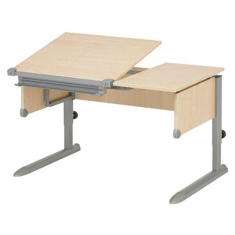 Nowe biurko Kettler Comfort II - blat klon - stelaż srebrny