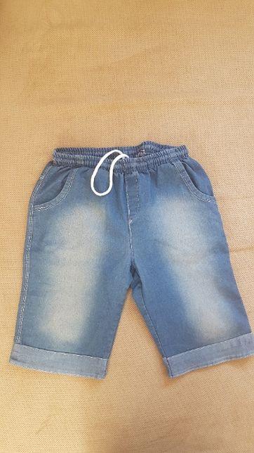 Krótkie jeansowe spodenki chłopięce, r. 146cm