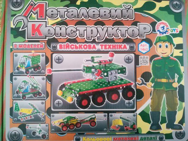 Металлический конструктор ТехноК Военная техника 201 деталь