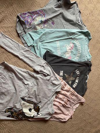 11 sztk.-Bluzki i koszulki dla dziewczynki 146/152 -paka