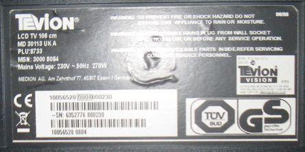 """Sprzedam telewizor Tevion MD 30113 UKA 40"""" na częsci"""