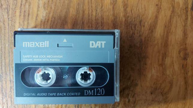 Kaseta DAT marki MAXELL DM120, uzywana, stan Idealny