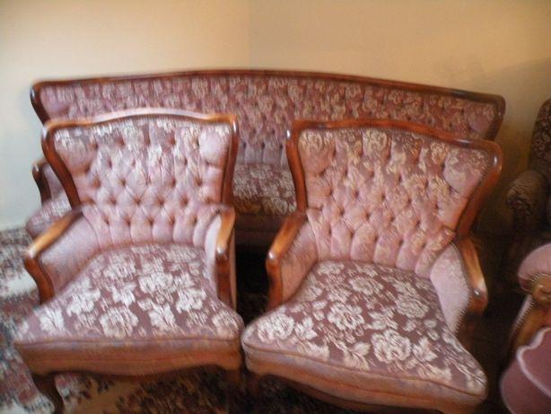 Komplet w Stylu Ludwika sofa i 2 fotele
