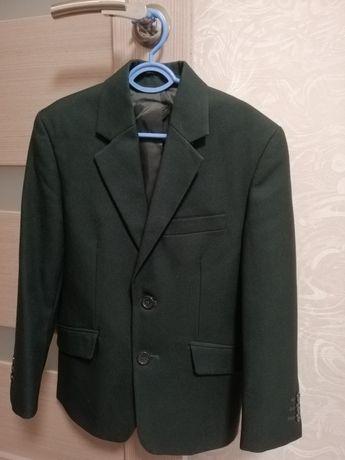 Пиджак школьный темно - зелёный 1 класс