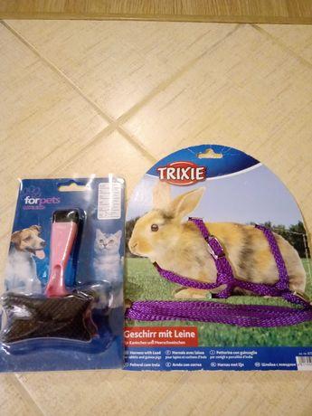 Nowe szelki dla króliczków i szczoteczka do czesania
