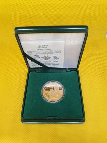 Złota moneta 200 zł 180 lat bankowości centralnej lombAArd