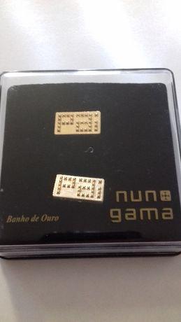 """Botões de punho """"Nuno Gama - Dia do Pai"""" - com banho de ouro"""