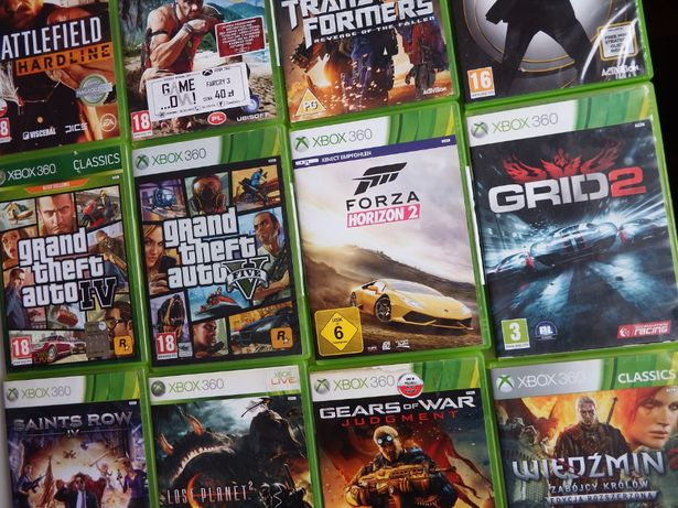XBOX 360 Forza HORIZON 2 PL ! FARCRY 3 Golden Eye GTA 5 GTA 4 inne gry