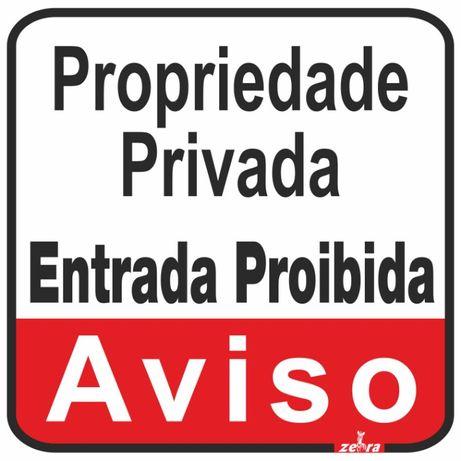 Placa / cartaz / sinal / Aviso Propriedade Privada 25x30cm