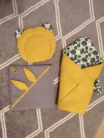 Rozek dziecięcy, recznik, poduszka itp handmade tkanina wafelkowa