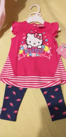 Komplet bluzeczka, getry, rozm. 74 Hello Kitty