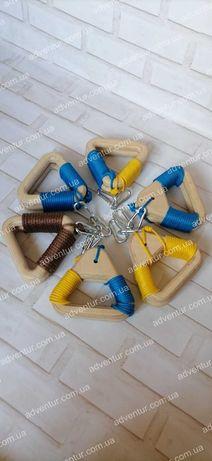 Кольца гимнастические(деревянные) для кросс фита подвесные kross fit
