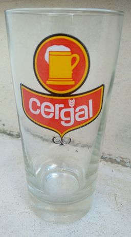 Copo de vidro da Cerveja Cergal