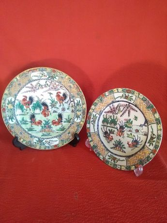 2 pratos porcelana Chinesa