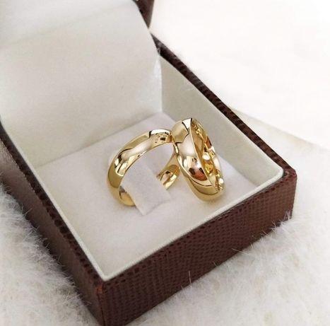 SYMBOL MIŁOŚCI! Tradycyjna Para Złotych Obrączek Ślubnych