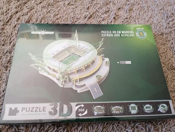 Puzzle 3D do estádio do Sporting. Completamente Novo. Fechado e Selado