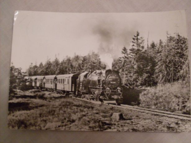 Pocztówka Niemcy Im Harz wąskotorówka 1976 rok