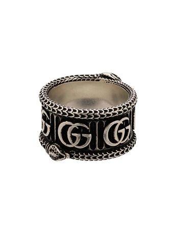 Gucci pierscionek GG srebro 925 luksus