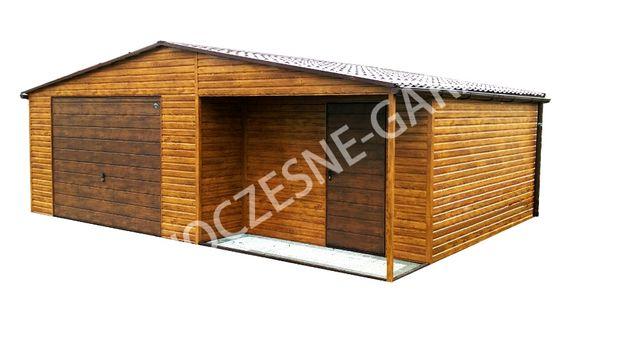 Imitacja Drewna Garaż Blaszany Najwyższa Jakość