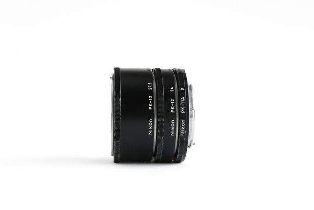 Tubos de extensão para macrofotografia Nikon PK-11A, PK-12, PK-13