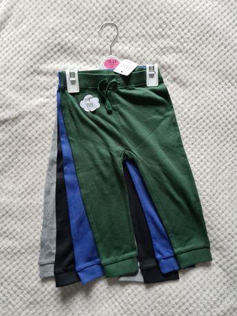 Zestaw 4sztuki spodnie dresowe/joggersy rozmiary 86 i 92/Cena z wyslka