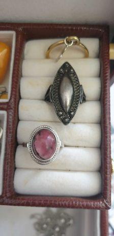 Srebrny pierścionek warmet rodonit