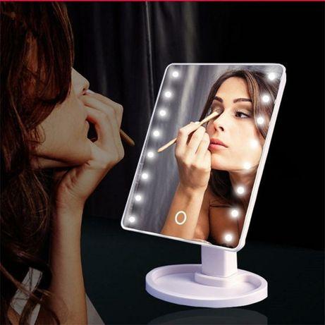 Косметическое зеркало с подсветкой лед настольное для макияжа