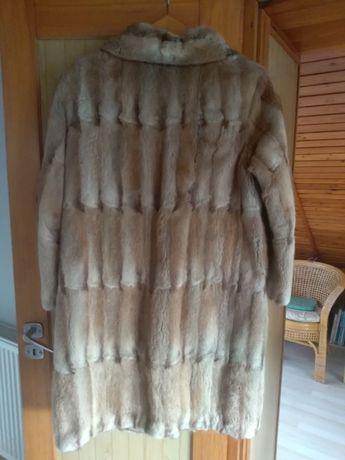 Futro naturalne płaszcz z piżmaków