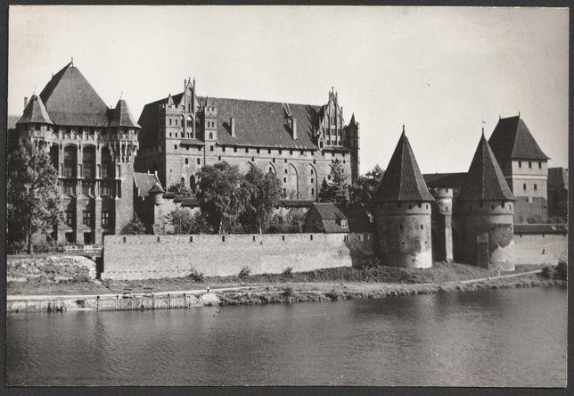 pocztówka - Malbork 1971 - zamek nad Nogatem