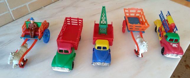 Conjunto de brinquedos em chapa Vintage